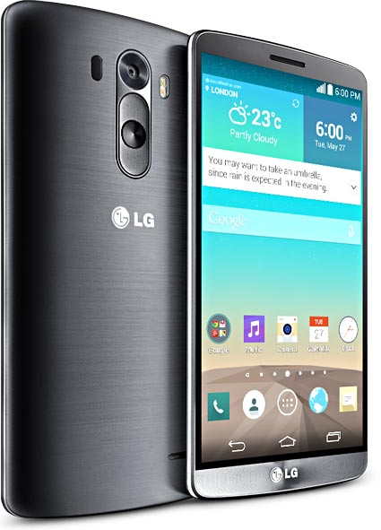 LG G3 metallic black Front and Back