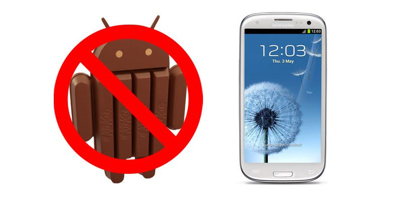 No KitKat for Samsung Galaxy S III And S III Mini
