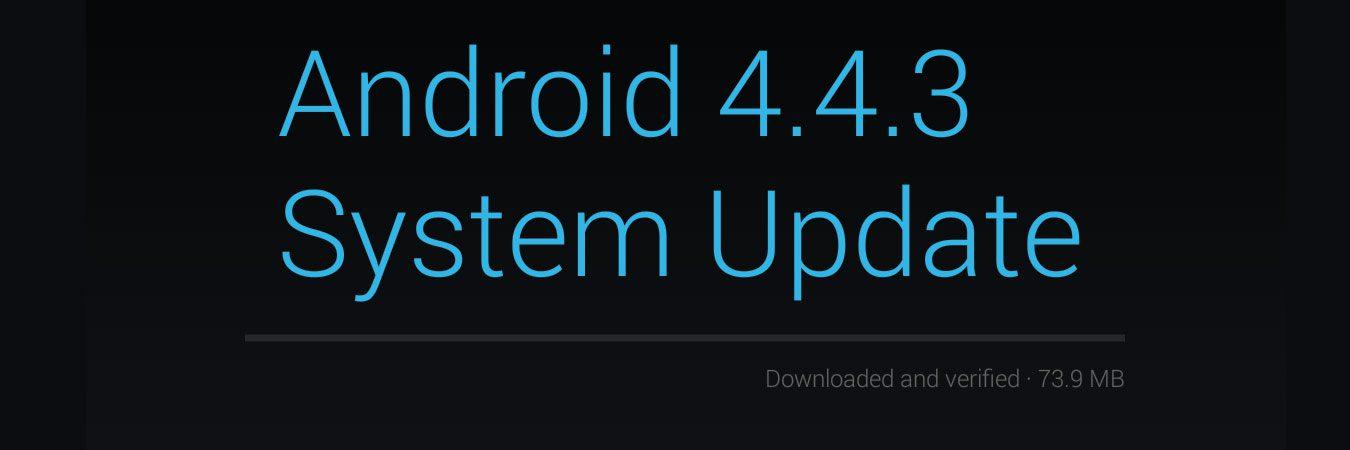 Finally Got Android 4.4.3 KitKat Update on Nexus 7 2013