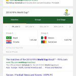 schedule for world cup