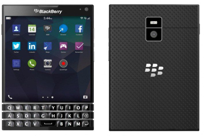 Blackberry Passport Front and Back