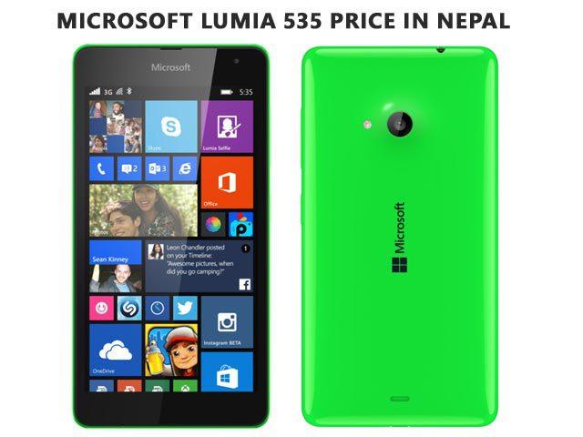 Microsoft Lumia 535 price in Nepal