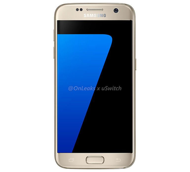 Samsung Galaxy S7 Gold front