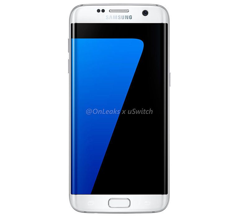 Samsung Galaxy S7edge white front