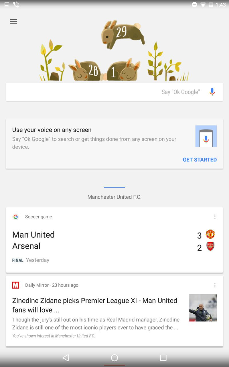 Google Now Card Example