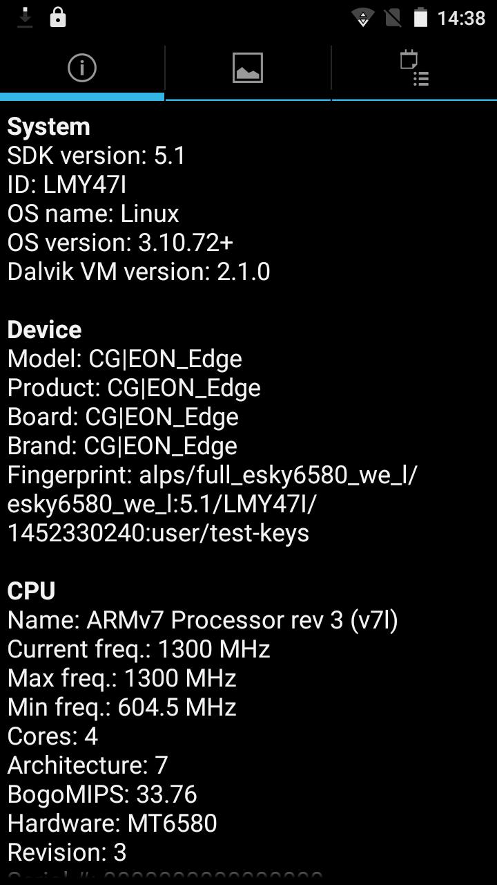 CG EON Edge CPU