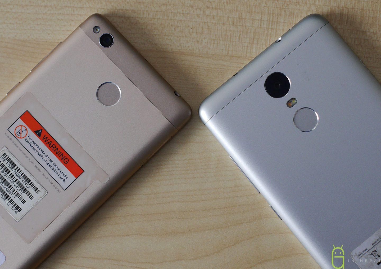Redmi 3 Pro vs Redmi Note 3