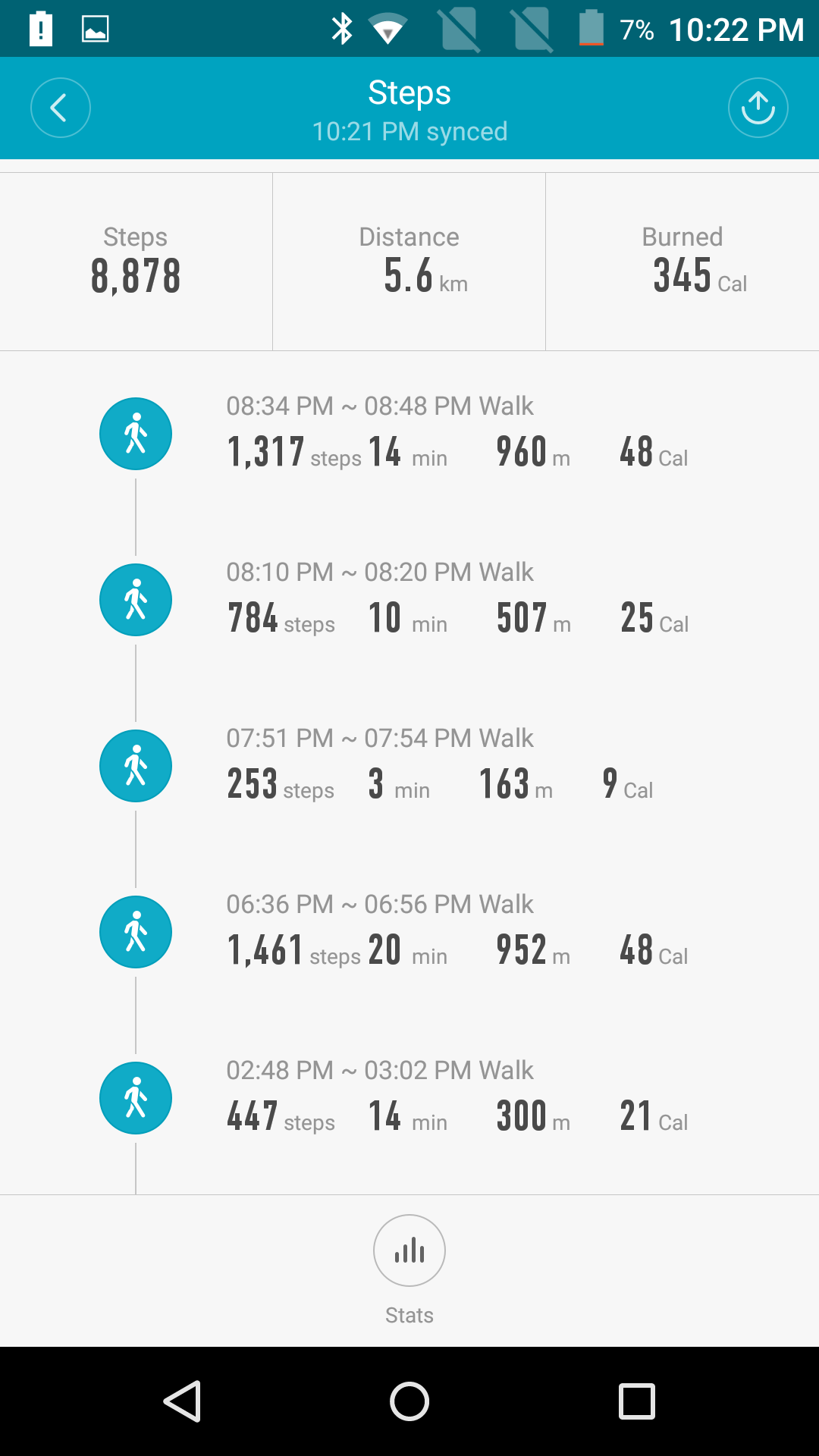 Mi band step count