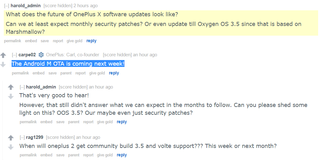Android M coming next week to OnePlus X