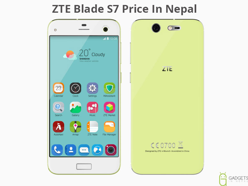 ZTE Blade S7 Price In Nepal