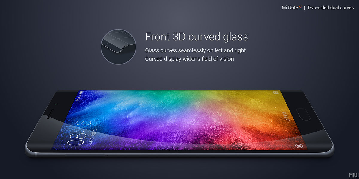 Mi Note 2 3D curved display