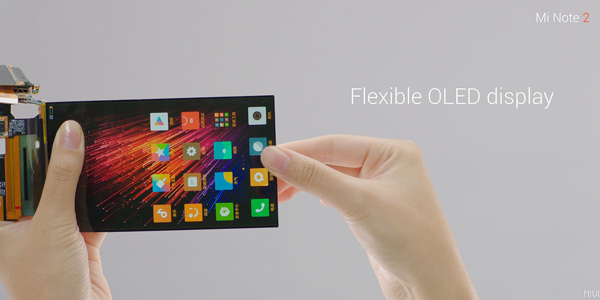 Mi Note 2 Flexible OLED Display