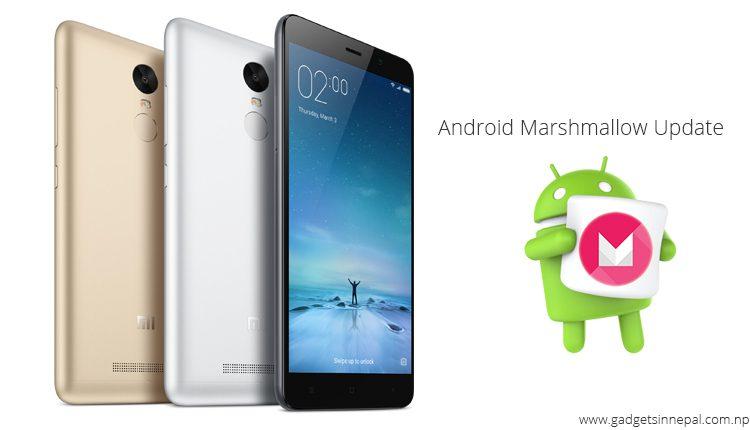 Redmi Note 3 Marshmallow update