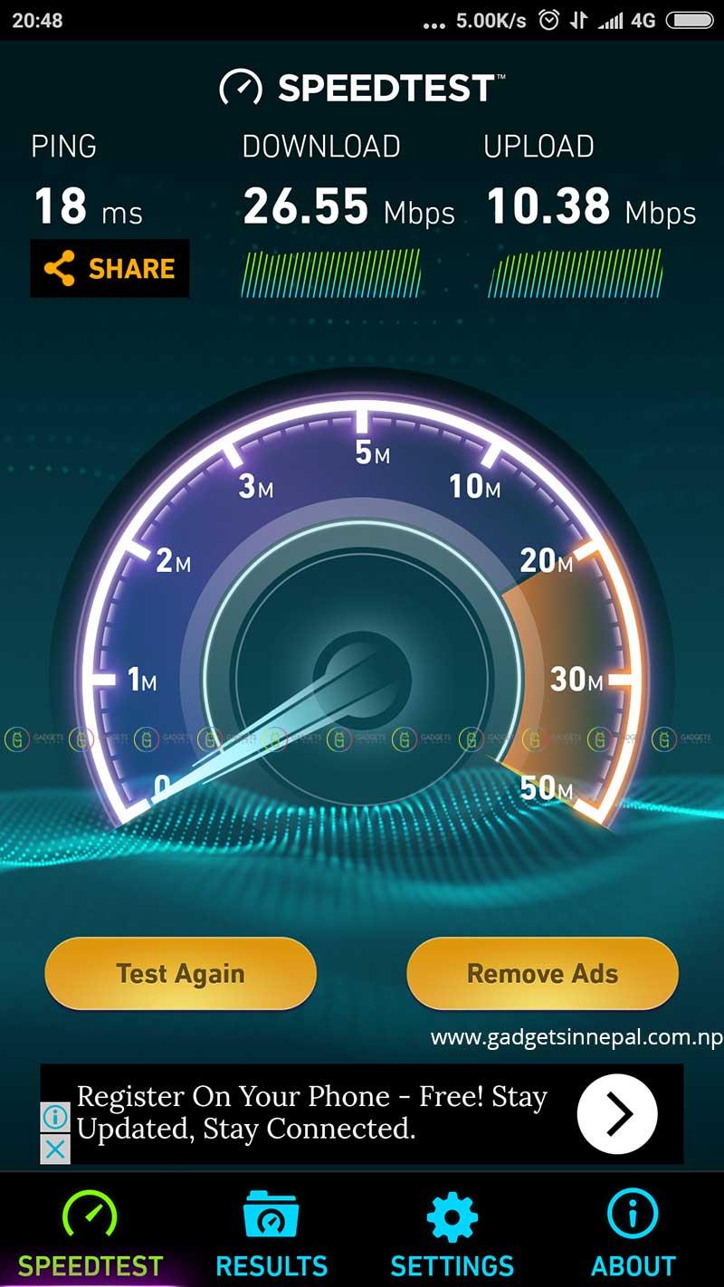 NTC 4G Speed test