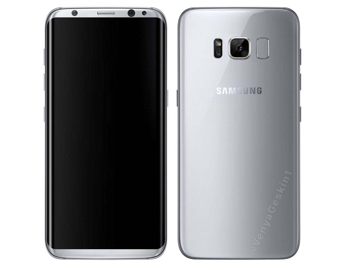 Samsung Galaxy S8 Leaked Render Image | Image credit: Veniamin Geskin