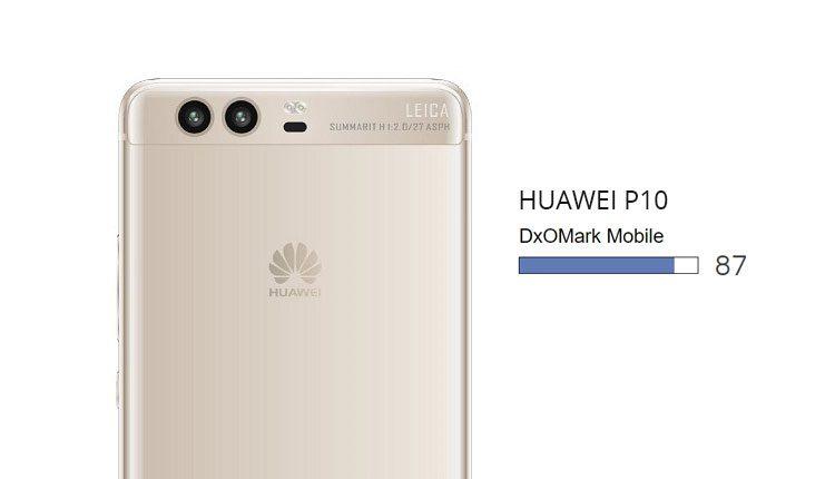 Huawei P10 DxOMark Scores
