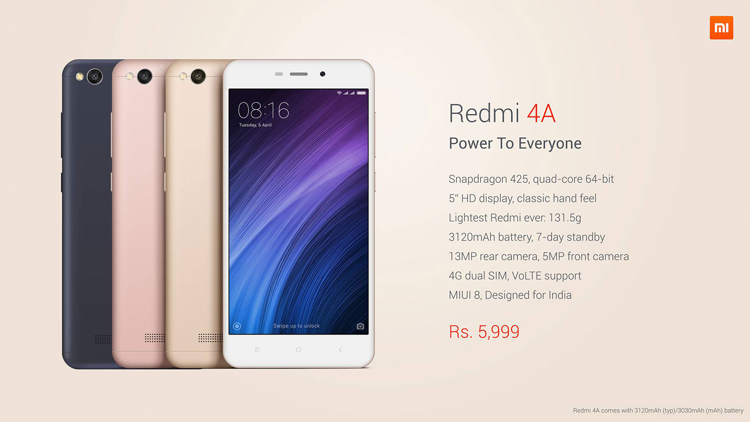xiaomi launches redmi 4a in india gadgets in nepal