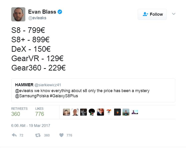 Evan Blass tweet