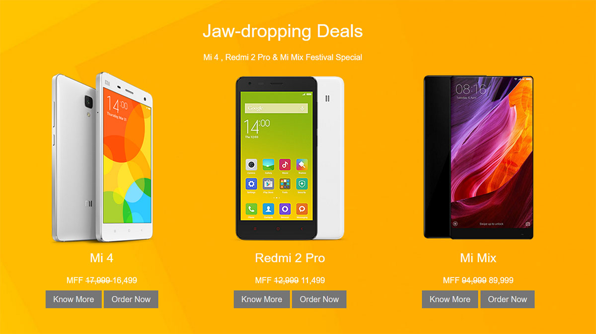 Discount on Xiaomi mobiles in Nepal