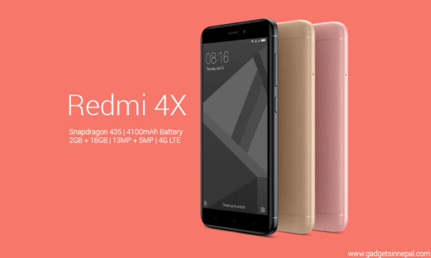Xiaomi Redmi 4X Launched In Nepal For Nrs 18499