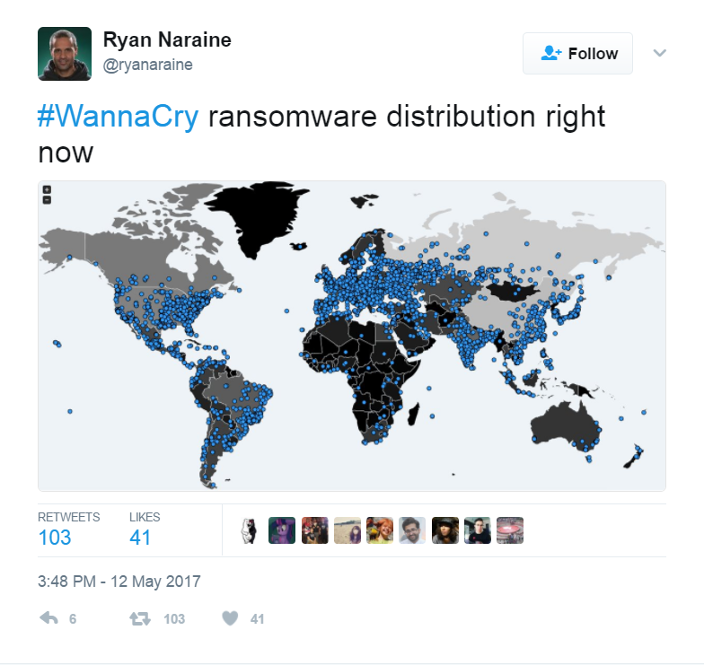 Ransonware Attacks on Map