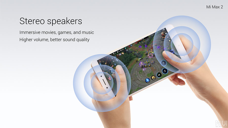 Mi Max 2 with Stereo Speakers