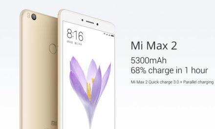 Xiaomi Mi Max 2 Announced With 5300mAh Battery