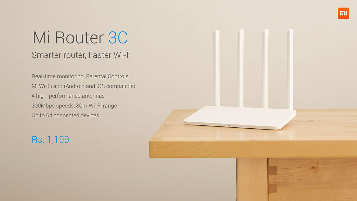 Mi Router 3C Price In India