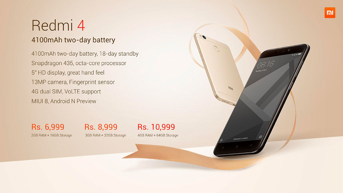 Redmi 4 Price In India