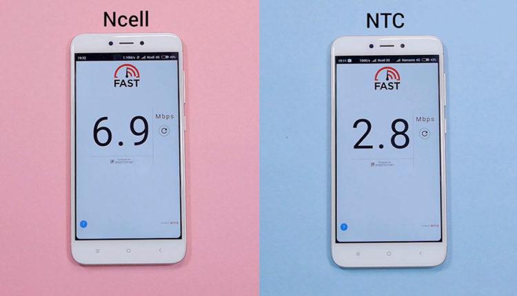 Fast (Ncell 4G vs NTC 4G)