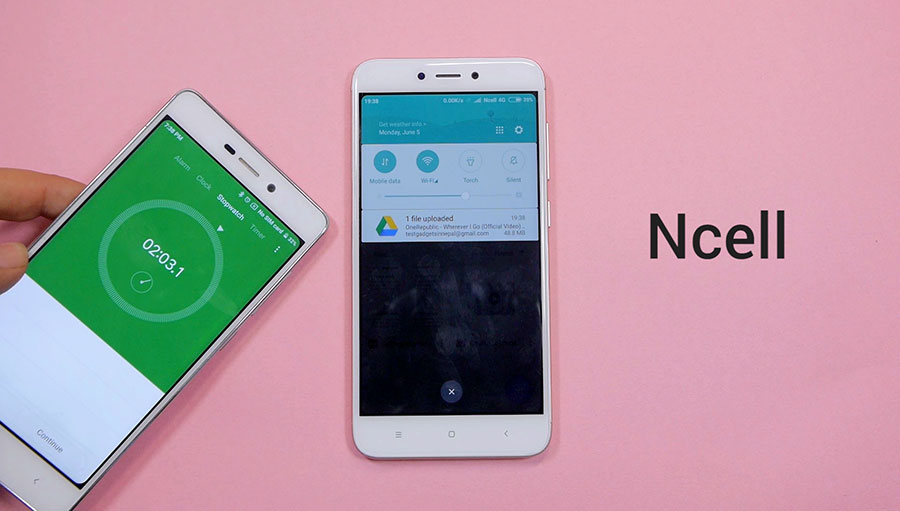 Google Drive Upload Time-with-Ncell-4G