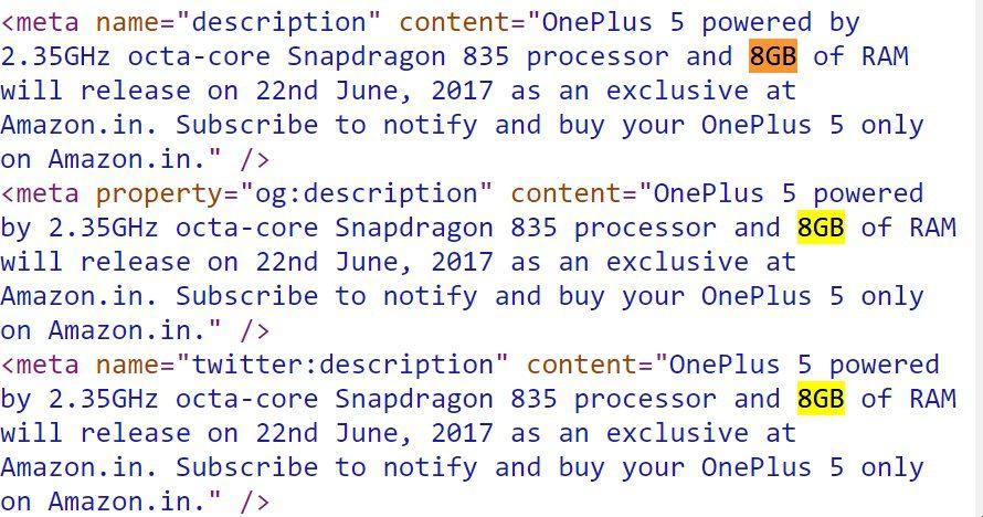 OnePlus 5 will have 8GB RAM