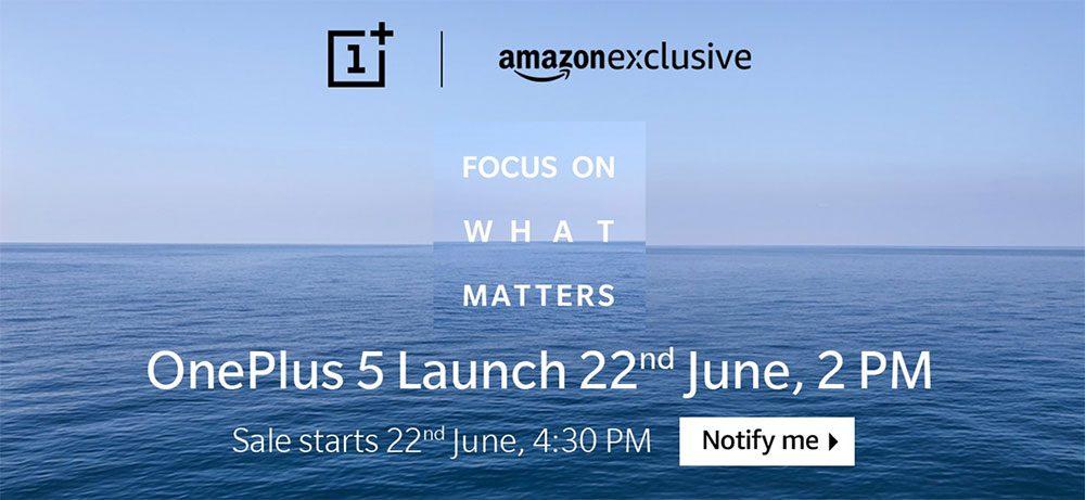 OnePlus 5 Sale on Amazon India
