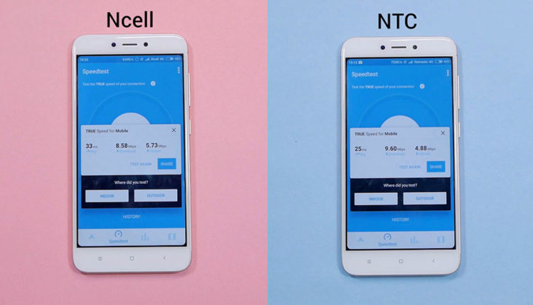 OpenSignal (Ncell 4G vs NTC 4G)