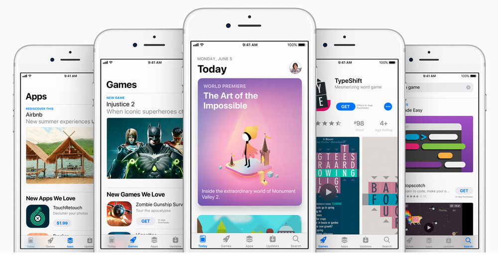 New Appstore interface