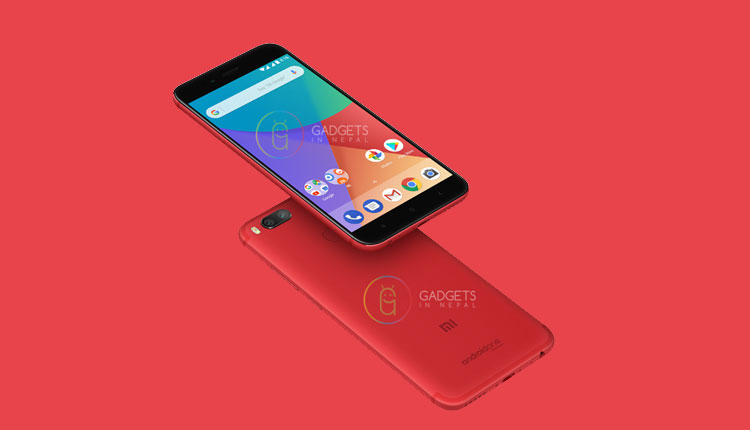 Leaked render image of Mi A1 in Red color