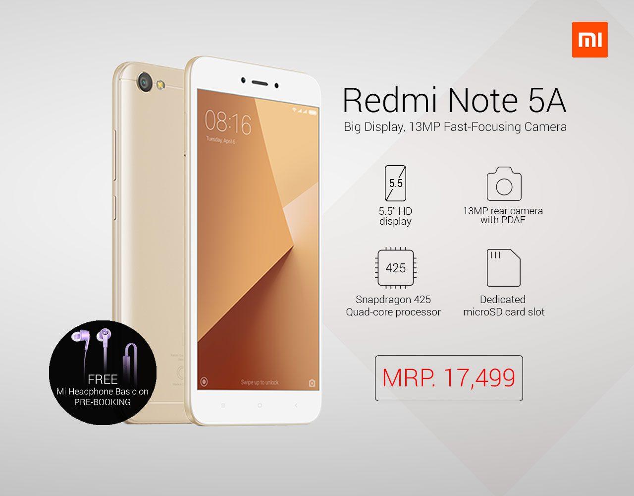 Redmi Note 5A Price In Nepal