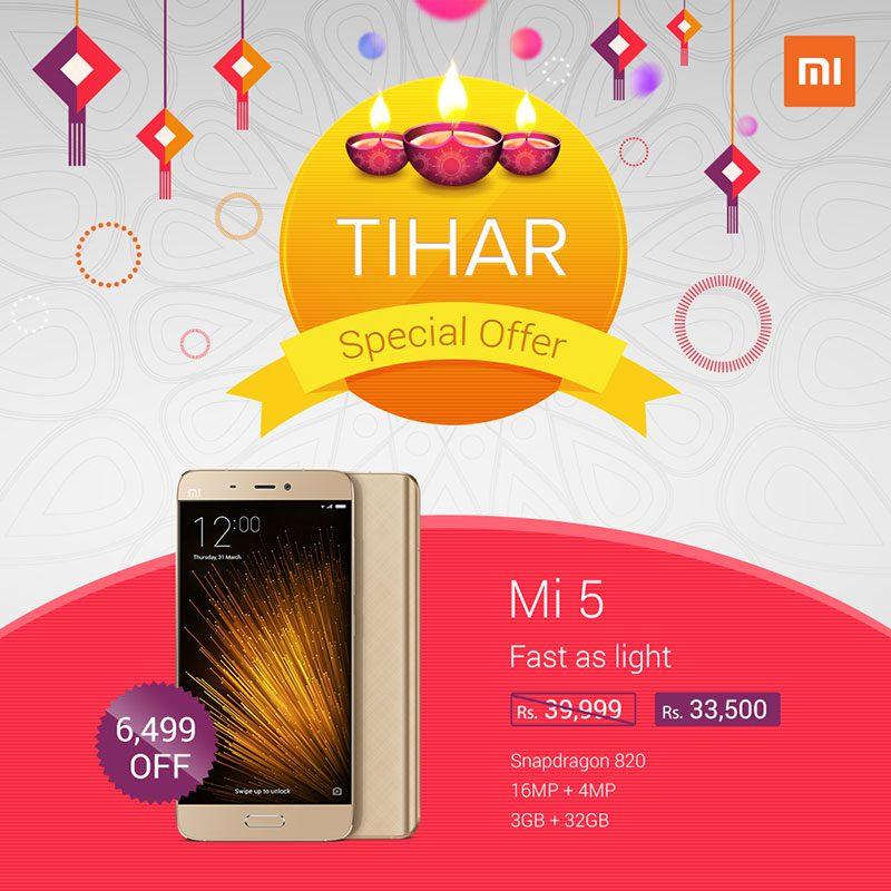 Tihar Offer on Xiaomi Smartphone