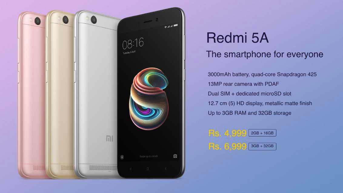 Redmi 5A - Smartphone for everyone