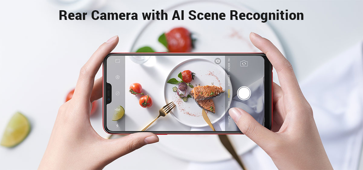 Oppo F7 Rear Camera with AI Scene Recognition