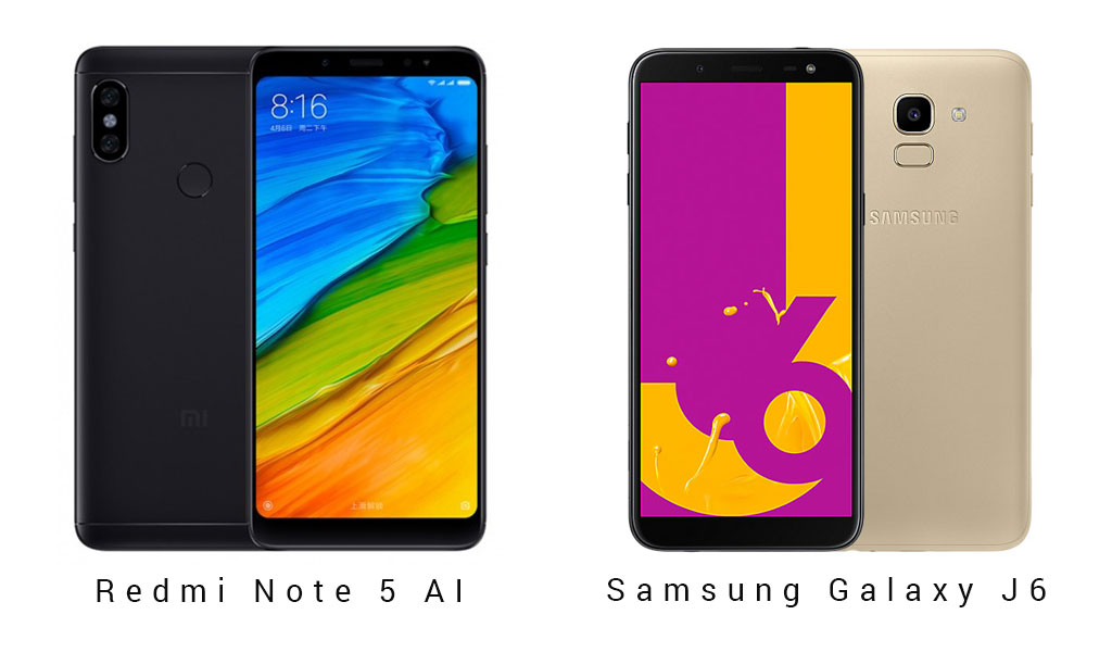 Redmi Note 5 AI vs Samsung Galaxy J6