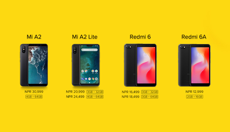 Xiaomi Nepal launched four new smartphones in Nepal