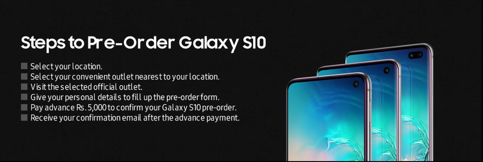 Samsung galaxy s10, s10+,S10e preorder