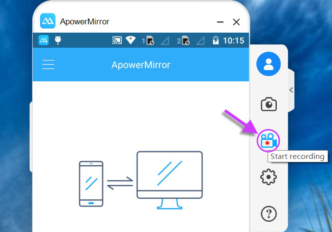 ApowerMirror - Best screening App for Android