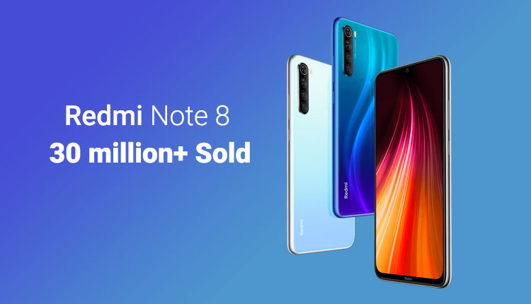 Redmi Note 8 phones sold over 30 million world wide