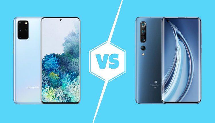 Mi 10 5G vs Samsung Galaxy S20