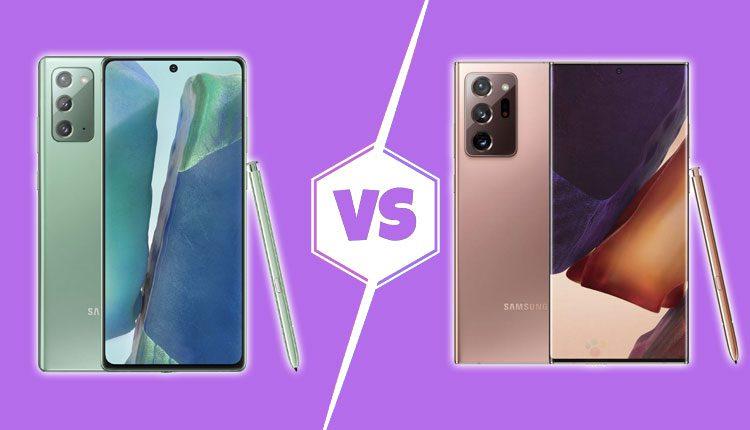 Samsung Galaxy Note 20 vs Galaxy Note 20 Ultra