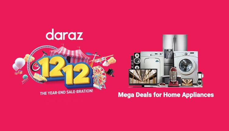 Mega Deals for Home Appliances daraz 12.12