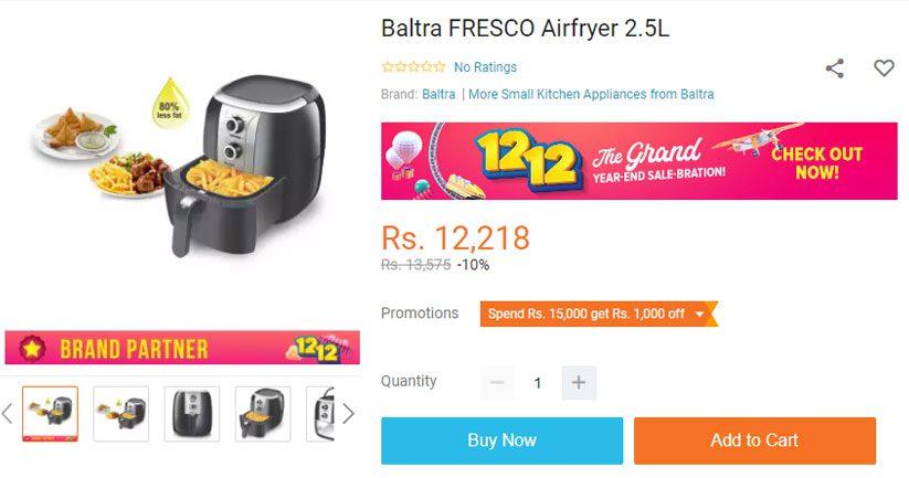 Baltra airfryer price in nepal