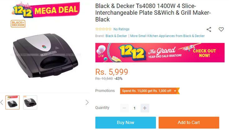 black & decker sandwich maker price in nepal